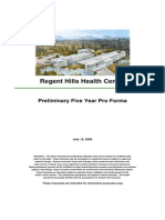 Regent Hills Private Hospital budget