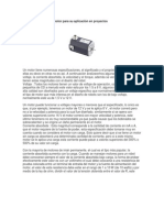 Caracteristicas de Un Motor Para Su Aplicacion en Proyectos