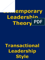 Contemporary Leadership Theory