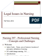 Legal Issues in Nursing - With Class Introduction