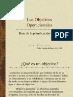 Los Objetivos Operacionales 2013