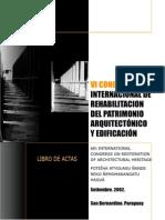 Vi Congreso-cicop Rehabilitacion Del Patrimonio Arquitectonico