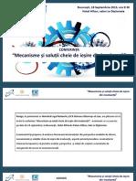 Prezentare Mecanisme Si Solutii Cheie de Iesire Din Insolventa