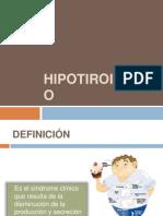 Tema 28 Hipotiroidismo