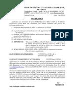 DCCB Khammam - CEO Job Notification