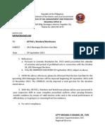 2013 Barangay Elections Gun Ban