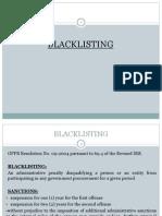 Blacklisting under R.A. No. 9184