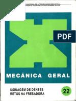 Senai - Mecânica Geral_22_Usinagem de Dentes Retos na Fresadora
