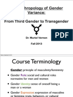 Anthro of Gender Week 1 Lecture 1
