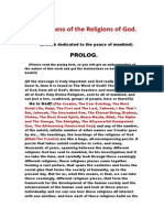 the oneness of the religions of god