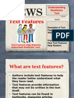 text features 602