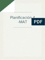 Planificación 4 -MAT