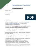 Fire - Risk Assessment