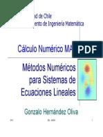 Capitulo 2 Sistemas de Ecuaciones Lineales