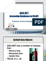 Ado dot net database connectivity