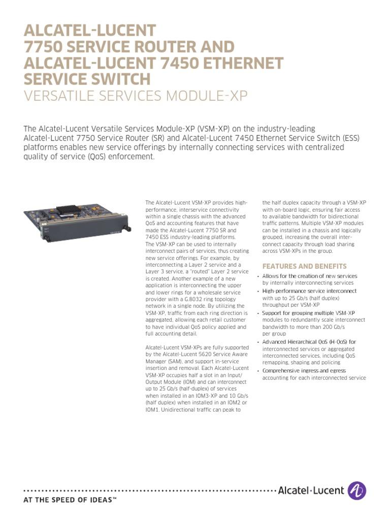 Alcatel-lucent 7750 service router series data sheet | manualzz. Com.