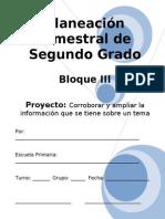 2do Grado - Bloque III - Proyecto 1