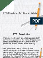 ITIL Foundation Certification Details