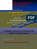 Pregnancy Outcomes in  Dilated Cardiomyopathy