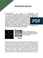 Nanostructured Surfaces