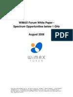 Opportunities below 1 GHz
