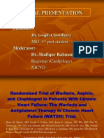 The Warfarin and Antiplatelet Therapy in Chronic Heart Failure (WATCH) Trial,NIVCD