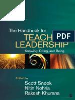 The Handbook of Teaching Leadership