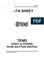TEND Hoist-Power Push Button Switch