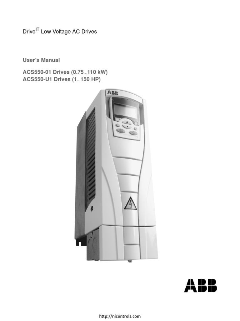 Abb Acs550 Drives Manual Ach550 Vfd Wiring Diagram Are