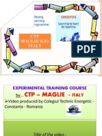 Narrative About Video CTP Maglie