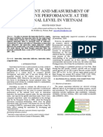 ASSESSMENT AND MEASUREMENT OF INNOVATIVE PERFORMANCE AT THE REGIONAL LEVEL IN VIETNAM