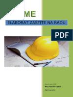 Eleborat zaštite na radu_Rekonstrukcija trotoara u ulici Jukićeva i postavljanje zaprečnih ivičnjaka