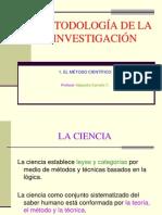 1. EL MÉTODO CIENTÍFICO