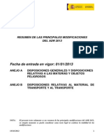 Resume n Modificaciones 2013
