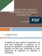 PROYECTO DE TESIS 2010(curso titulación)