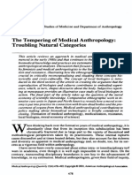 Lock - 2001 - The Tempering of Medical Anthropology Troubling Natural Categories