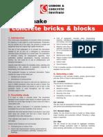 How to make concrete bricks & blocks