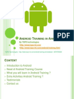 Android Training in Ahmedabad for Students and Fresher's