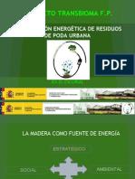 Valorización energética de restos de poda.