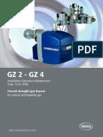 Manual Instalare, Operare, Intretinere Arzator Gaz MHG_MBW_GZ2-GZ4_engl