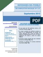 65reporte Mensual de Conflictos Sociales n 115 Septi
