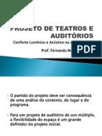 PROJETO DE TEATROS E AUDITÓRIOS