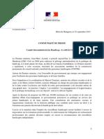 25 Sept 2013 Communique de Presse - Comite Interministeriel Du Handicap