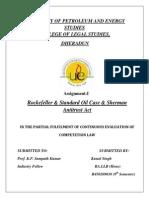 Rockefeller & Standard Oil Case & Sherman Antitrust Acty Assignment.docx