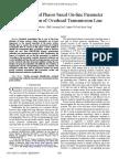 Synchronized Phasor Based on-Line Parameter