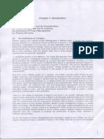 Project Management - Chapter 1
