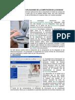 CAMPOS DE ACCIÓN O APLICACIONES DE LA COMPUTACIÓN EN LA SOCIEDAD
