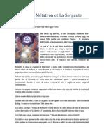 Arcangelo Métatron et La Sorgente - 17 ottobre 2013