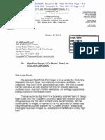 High Point v. BDI - Letter & Order