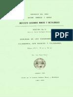 Geología - Cuadrangulo de Cajamarca (15f), San Marcos (15g) y Cajabamba (16g),1980